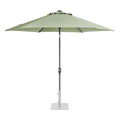 Kettler 3.0m Wind Up Parasol with tilt - Grey frame and Sage Canopy