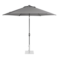 Kettler 3.0m Wind Up Parasol with tilt Grey frame and Slate Canopy