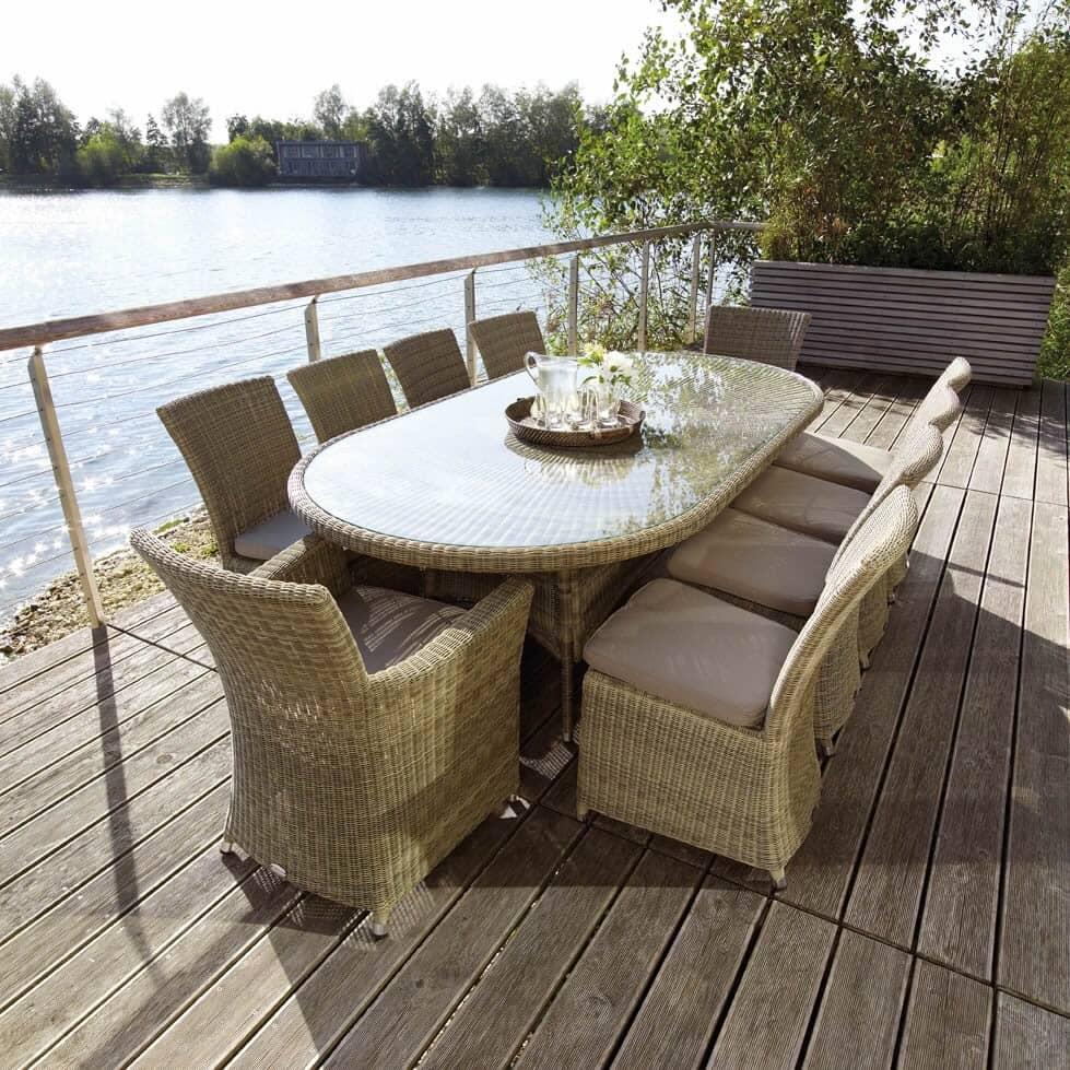 bramblecrest sahara oval 10 seat set sahset07 garden. Black Bedroom Furniture Sets. Home Design Ideas