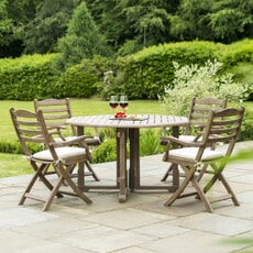 Alexander Rose Sherwood Gateleg Table and Chair Set with Cushions
