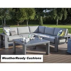 Hartman Titan Corner Lounge Set Weatherready Cushions Seal/Pewter