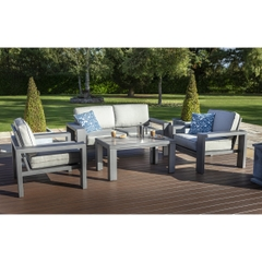 Hartman Titan 2 Seat Lounge Set Seal/Pewter