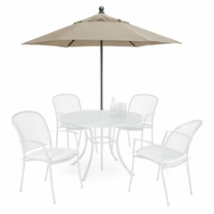 Kettler 2.3M Push Up Parasol Grey/Truffle