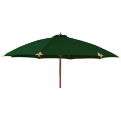 Alexander Rose 2.7m Wooden Curved Parasol - Green