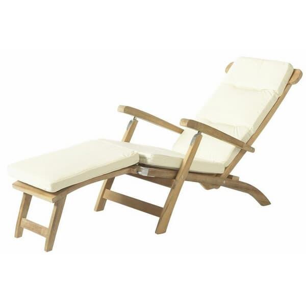 Bramblecrest Steamer Chair Cushion Natural Unlg1