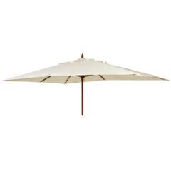 Alexander Rose 3m x 2m Rect Wooden Parasol Ecru