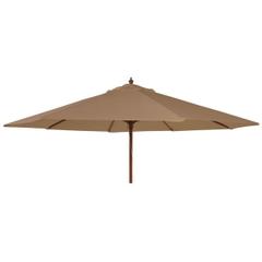 Alexander Rose 2.7m Wooden Parasol Taupe
