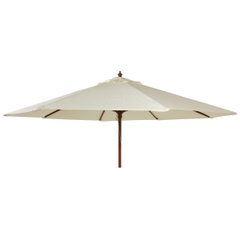 Alexander Rose 3m Wooden Parasol Ecru
