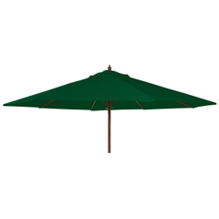Alexander Rose 3m Wooden Parasol Green