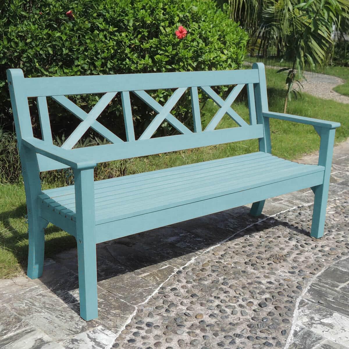 Maywick 3 Seat Bench Power Blue Winmay3benchpblu