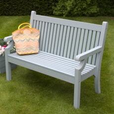 Winawood Sandwick 2 Seat Thin Slat Bench Blue
