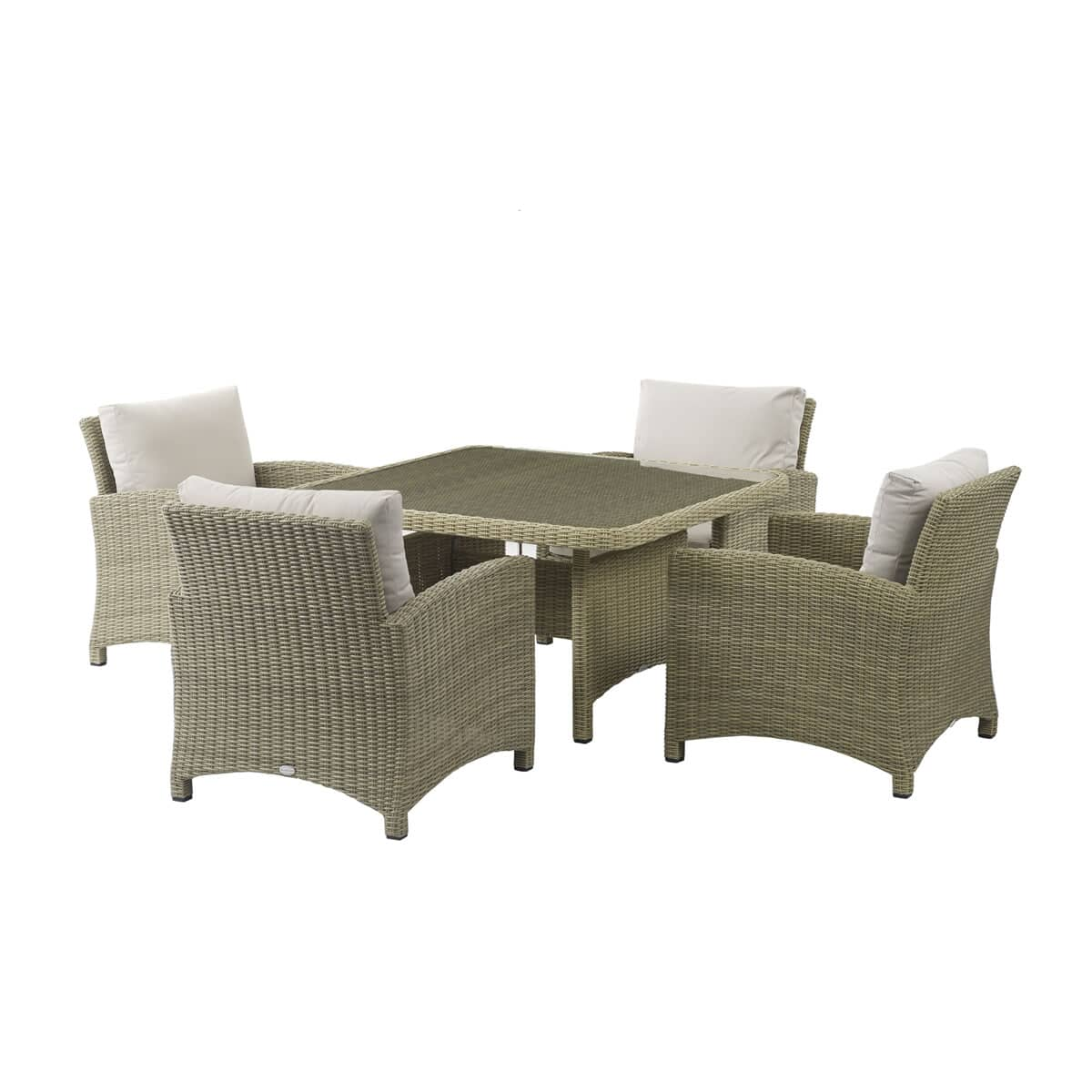 Bramblecrest Cotswold Square Casual Dining Table With 4
