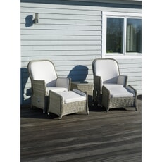 Bramblecrest Monte Carlo Recliner Set with 2  Footstools and High Coffee Table