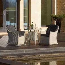 Bramblecrest Monterey 80cm Bistro Table with 2 Armchairs