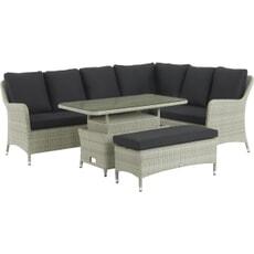 Bramblecrest Portobello Modular Sofa with Rectangle Adjustable Casual Dining Table