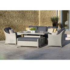 Bramblecrest Monterey 3 Seat Sofa Set Dove Grey