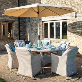 weave or wicker garden furniture