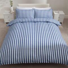 Stripe Brushed Cotton Blue