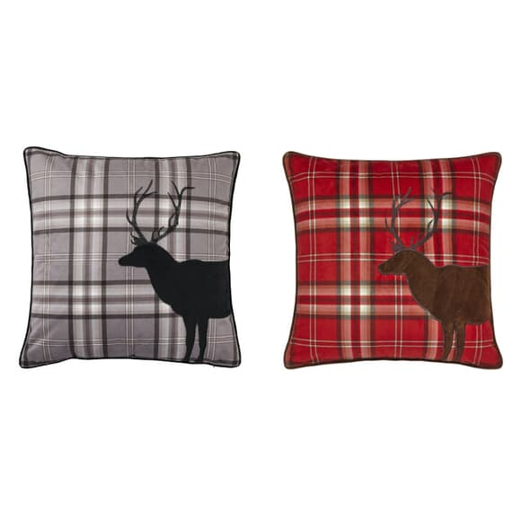 Catherine Lansfield Tartan Stag Head Accessories large