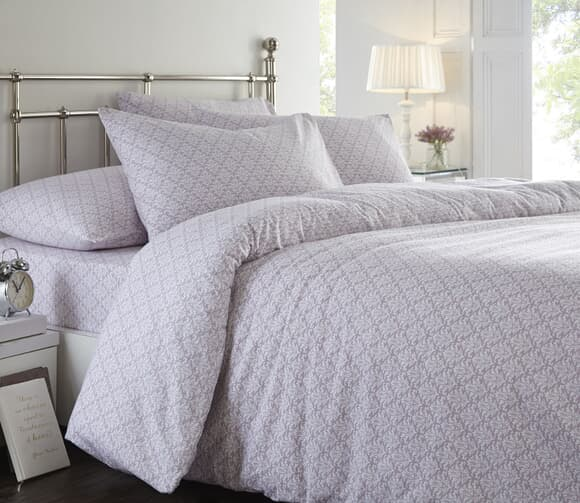 Linen House Madielia Lavender Brushed Cotton large