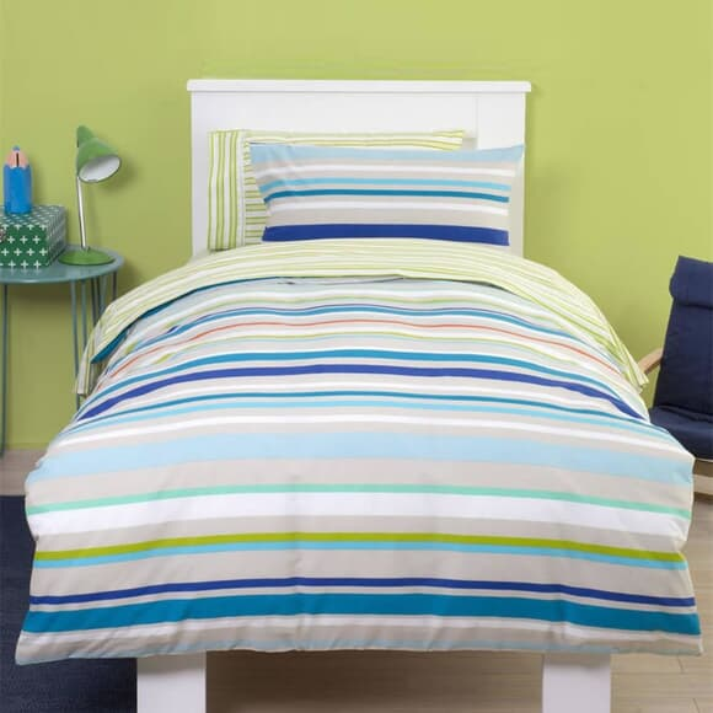 Just Kidding Fun Stripe - Blue large