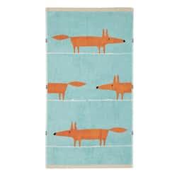 Mr Fox Towels Aqua
