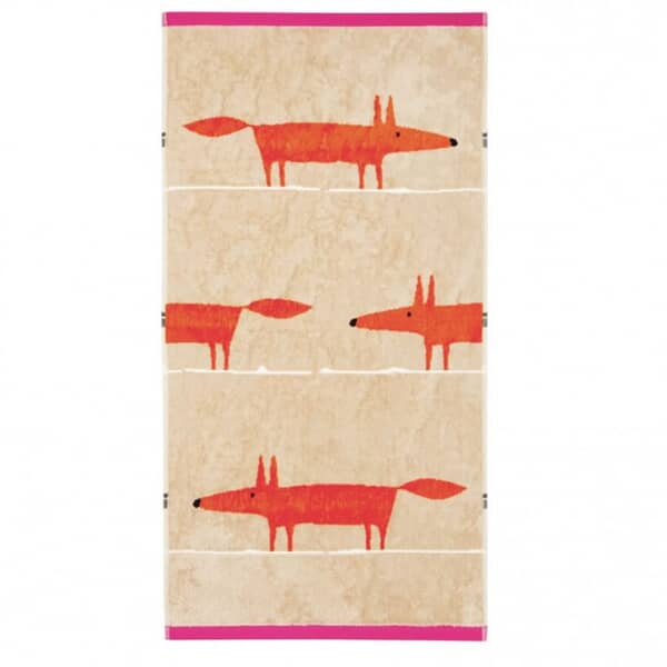 Mr Fox Towels Cerise and Tangerine