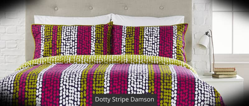 Dotty Stripe Damson