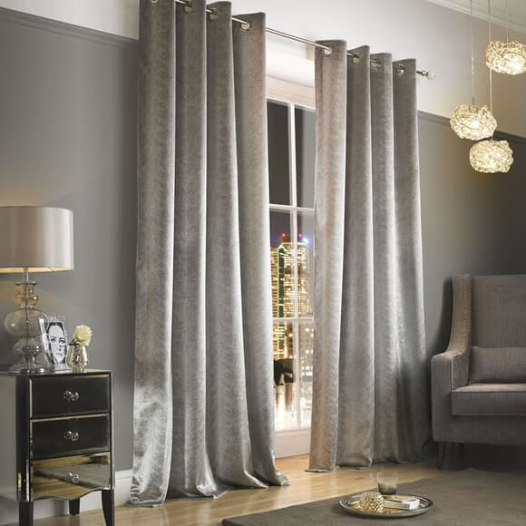 Kylie at Home Adelphi Mist Curtains large