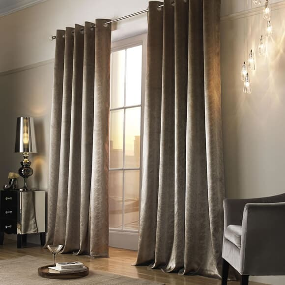 Kylie at Home Adelphi Caramel Curtains large