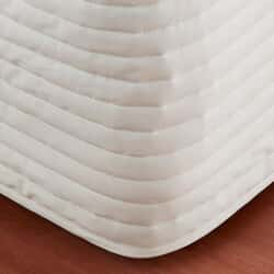 Chalk/ Light Cream Quilted Bedskirt