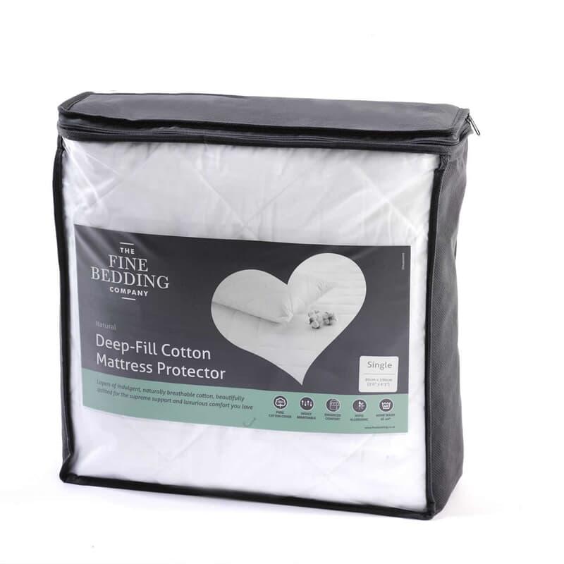 Fine Bedding Co Deep Fill Cotton Protectors large