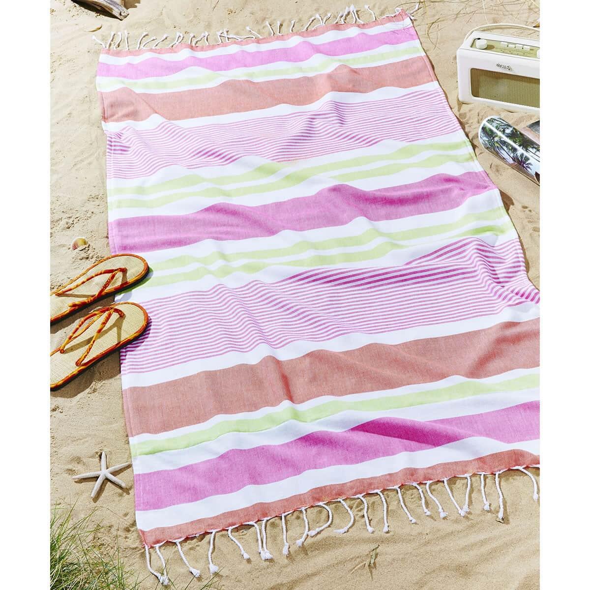 Catherine Lansfield Funky Stripe Bright large