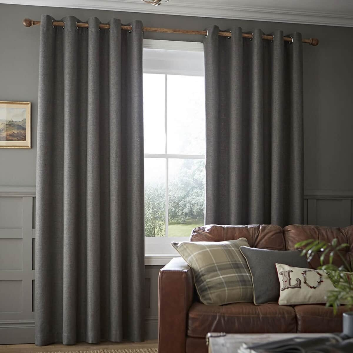 Catherine Lansfield Heritage Plain Grey large