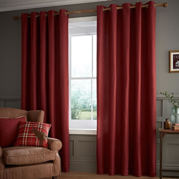 Catherine Lansfield Heritage Plain Red large