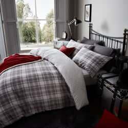 Tartan Flannelette Grey