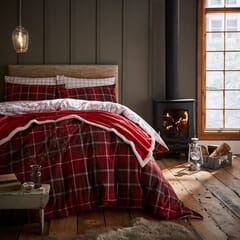 Brushed Tartan Check Red