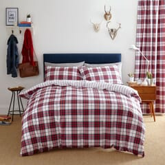 Henley Check Red