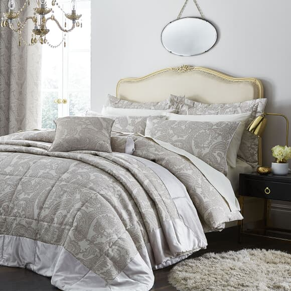 Catherine Lansfield Opulent Jacquard Champagne large