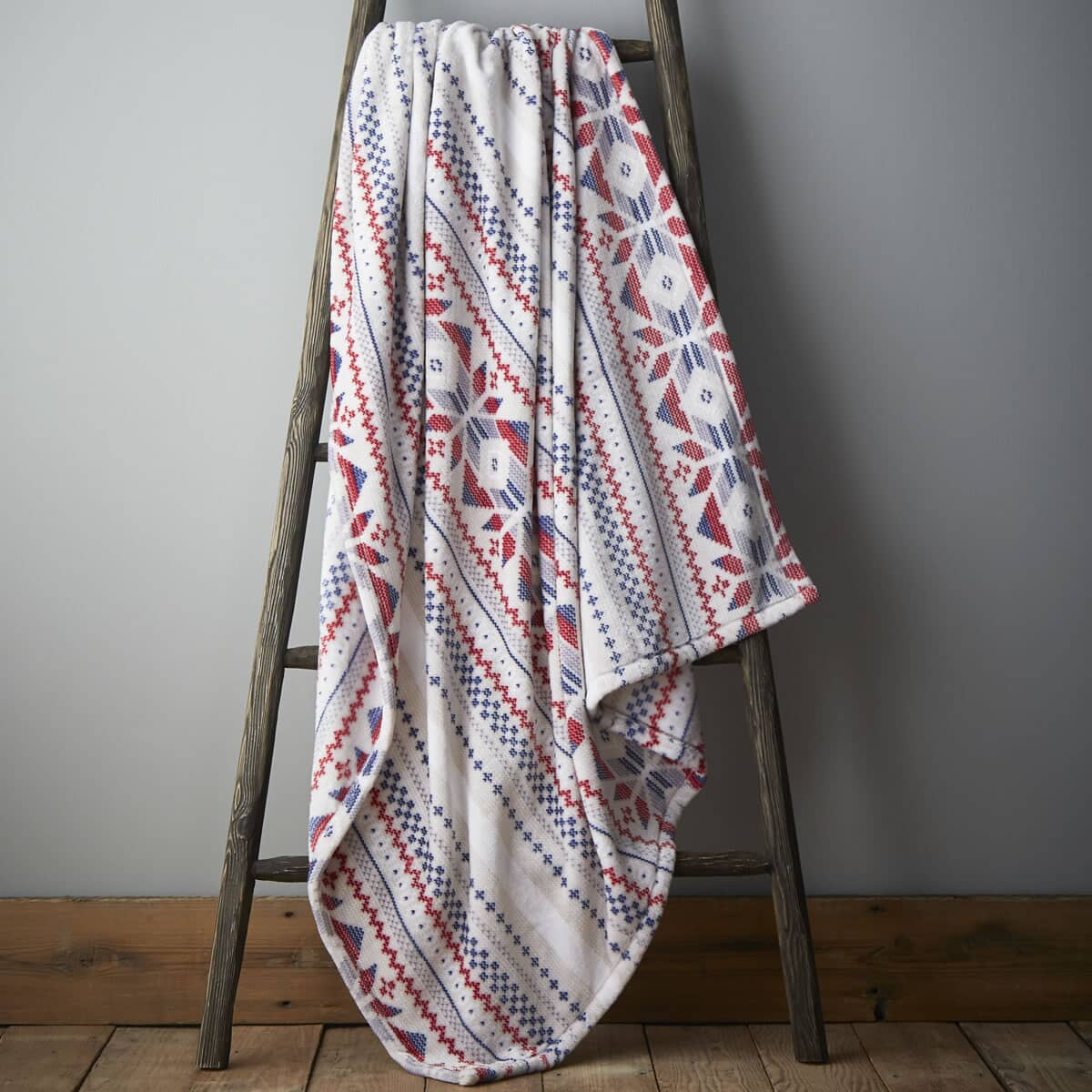 Printed Knit Throw