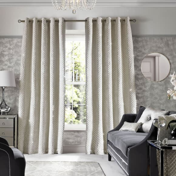 Kylie at Home Grazia Oyster Curtains large
