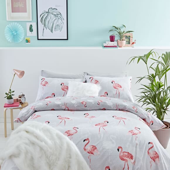 Catherine Lansfield Flamingo Grey large
