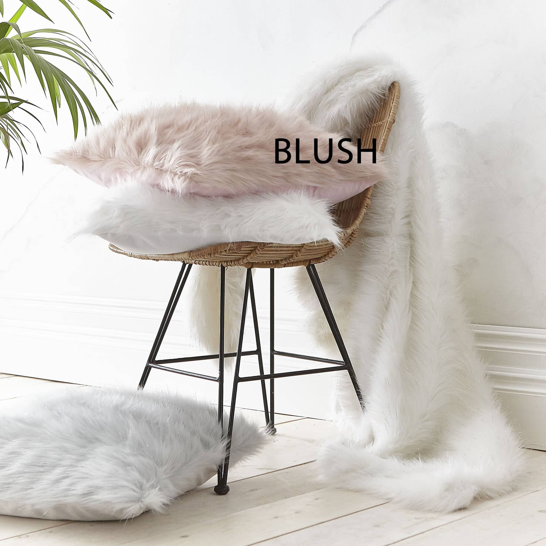 Metallic Fur Blush