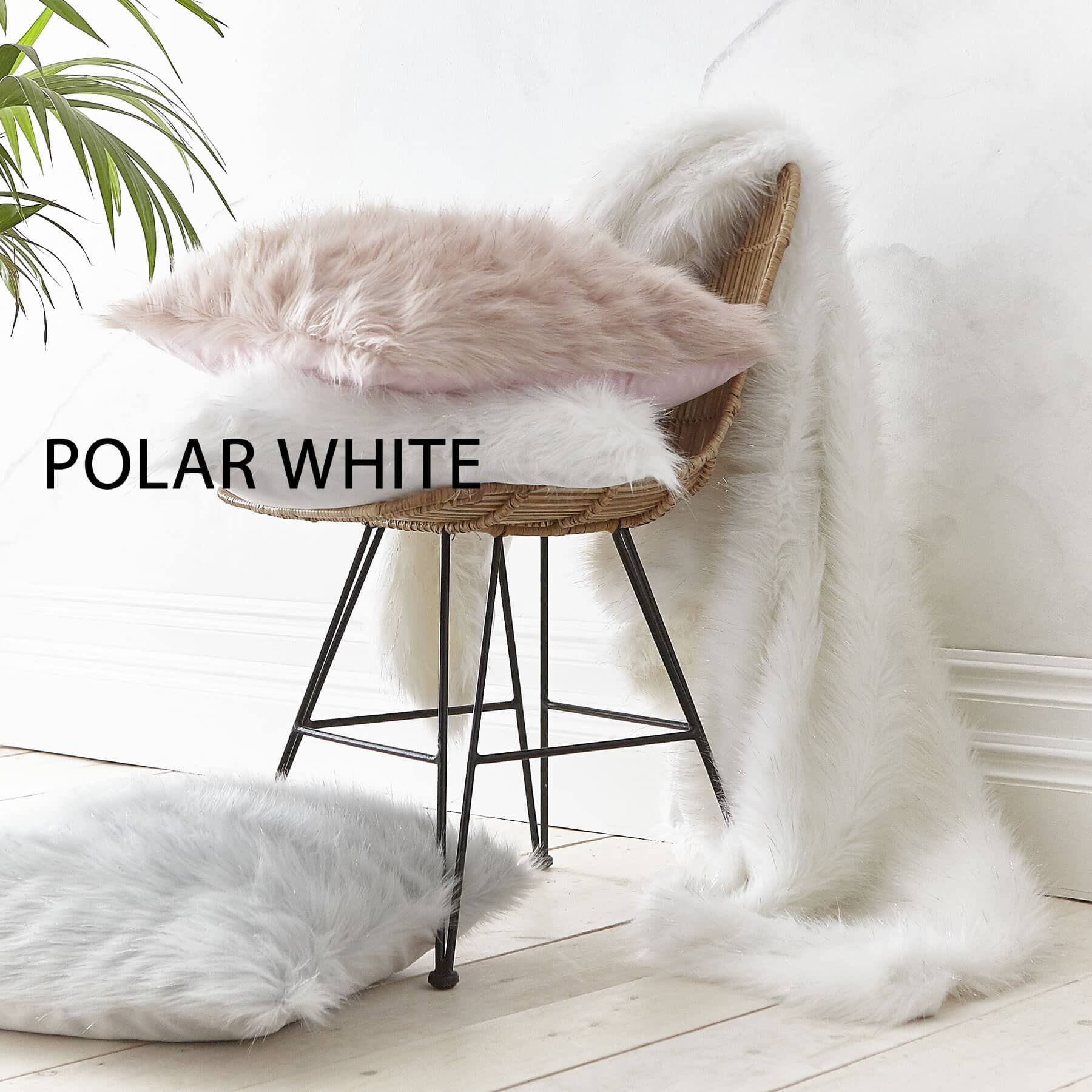 Metallic Fur Polar White