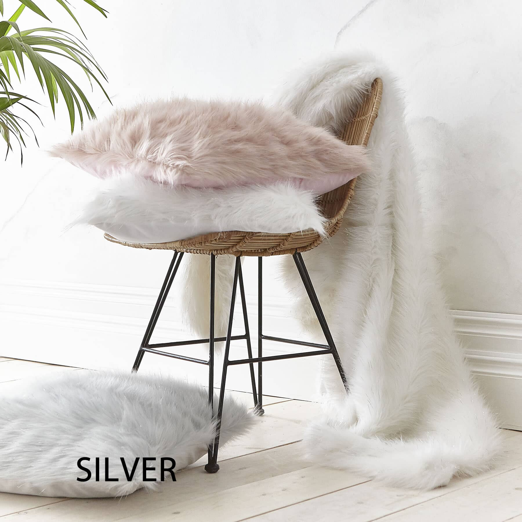 Metallic Fur Silver