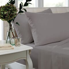 400 T/C Egyptian Cotton Sateen Silver