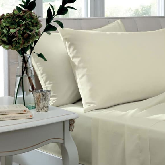 TLC 200 T/C Egyptian Cotton Percale Ivory large