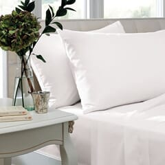400 T/C Egyptian Cotton Sateen White