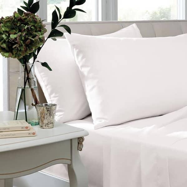 400 T/C Egyptian Cotton Sateen White