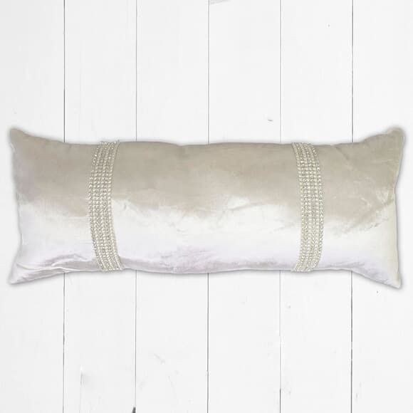 Kylie at Home Hotel Cushion Oyster large